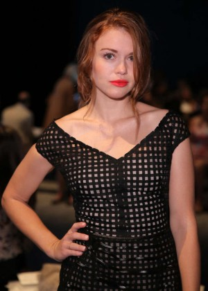 Holland Roden - Lela Rose Spring 2015 Fashion Show in NYC