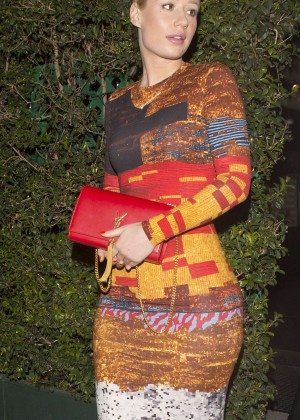 Iggy Azalea in Tight Dress at Mr Chow in Beverly Hill