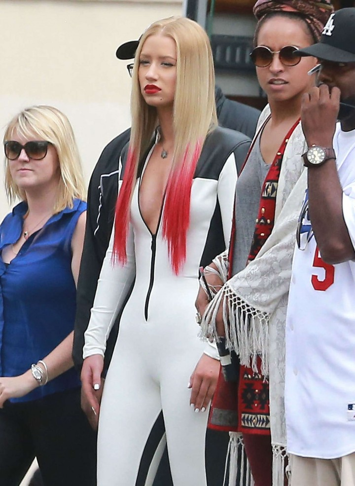 Iggy Azalea in Leather Suit - Filming a music video in Los Angeles