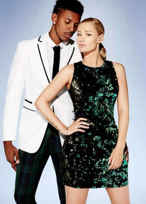 Iggy Azalea in Green Dress for Forever 21 Holiday 2014 Campaign