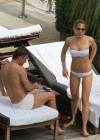 Ilary Blasi - In a White Bikini In Miami-12