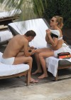 Ilary Blasi - In a White Bikini In Miami-15