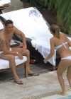 Ilary Blasi - In a White Bikini In Miami-16