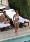 Ilary Blasi - In a White Bikini In Miami-23