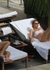 Ilary Blasi - In a White Bikini In Miami-31