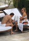 Ilary Blasi - In a White Bikini In Miami-34