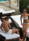 Ilary Blasi - In a White Bikini In Miami-35
