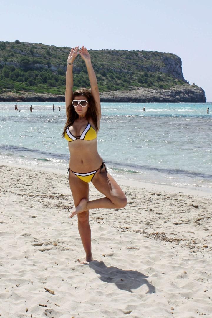 Imogen Thomas – Bikini Candids on a Beach in Spain