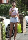 Imogen Thomas shows her legs in short shorts