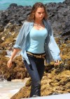Indiana Evans Wet On the set of Blue Lagoon in Maui