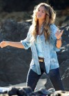 Indiana Evans On the set of Blue Lagoon in Maui-05