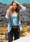 Indiana Evans On the set of Blue Lagoon in Maui-08