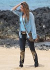 Indiana Evans On the set of Blue Lagoon in Maui-10