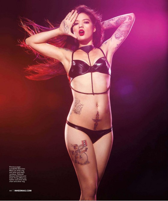 Ira Chernova hot in lingerie for Inked Magazine issue