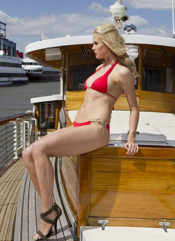 Ireland Baldwin - Bikini Photoshoot on a Boat in NY -10