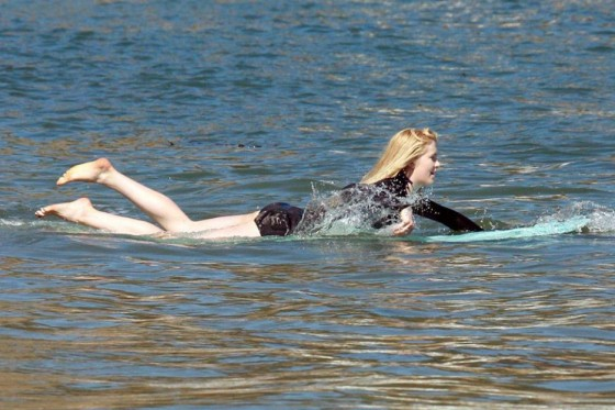 Ireland Baldwin surfing -12