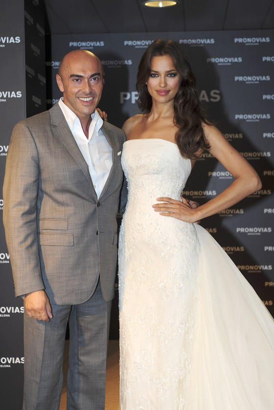 Irina Shayk at Pronovias bridal house in Barcelona