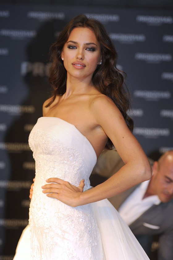 Irina Shayk at Pronovias bridal house in Barcelona – GotCeleb