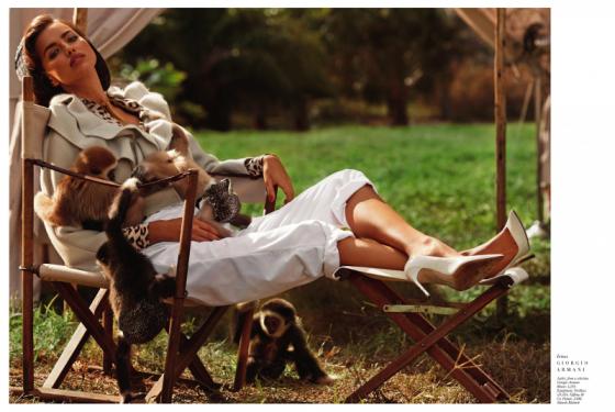 Irina Shayk – Harpers Bazaar The Animal Nursery Photoshoot 2013 -01