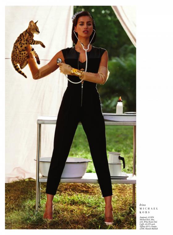 Irina Shayk – Harpers Bazaar The Animal Nursery Photoshoot 2013 -03