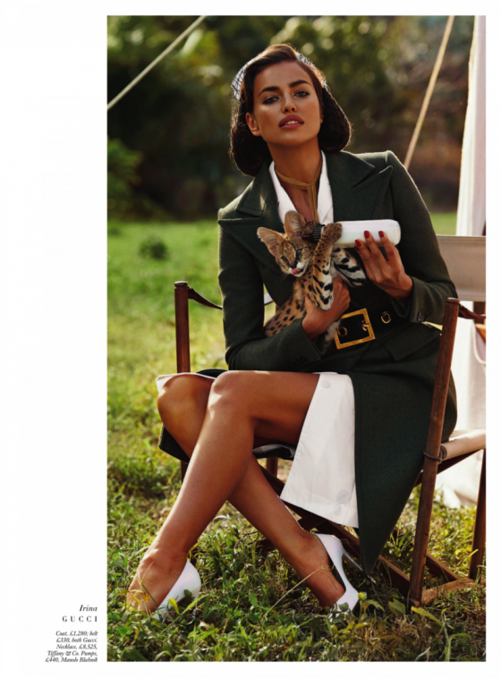 Irina Shayk - Harpers Bazaar The Animal Nursery Photoshoot 2013 -04