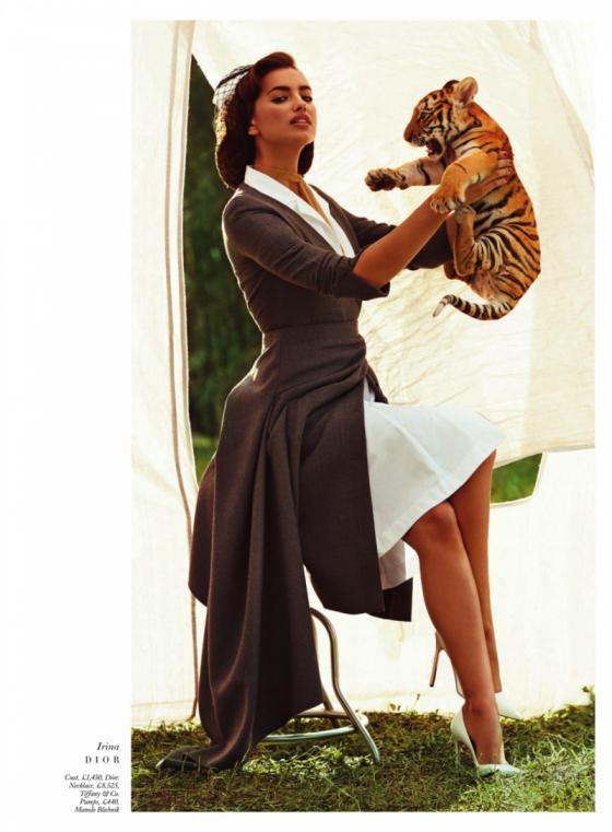 Irina Shayk – Harpers Bazaar The Animal Nursery Photoshoot 2013 -05