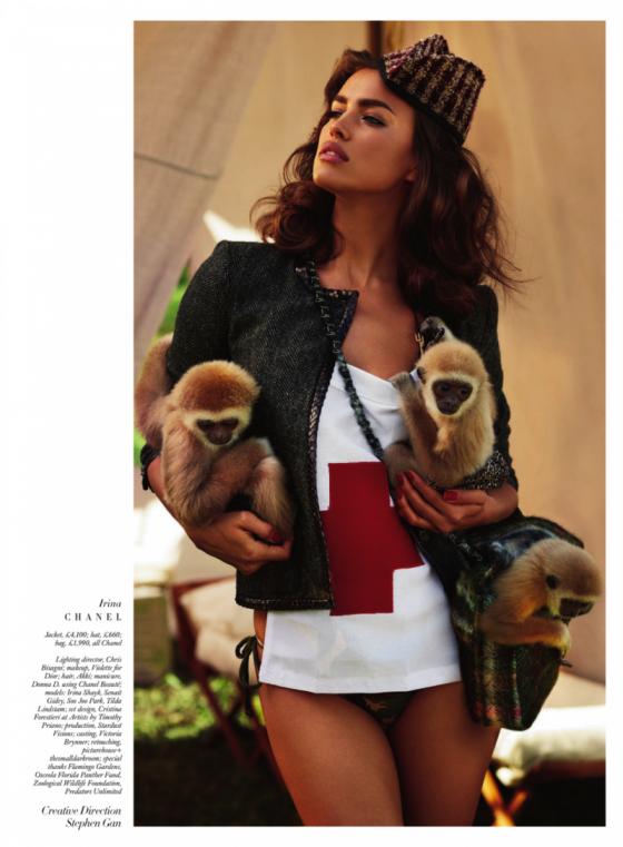 Irina Shayk – Harpers Bazaar The Animal Nursery Photoshoot 2013 -06
