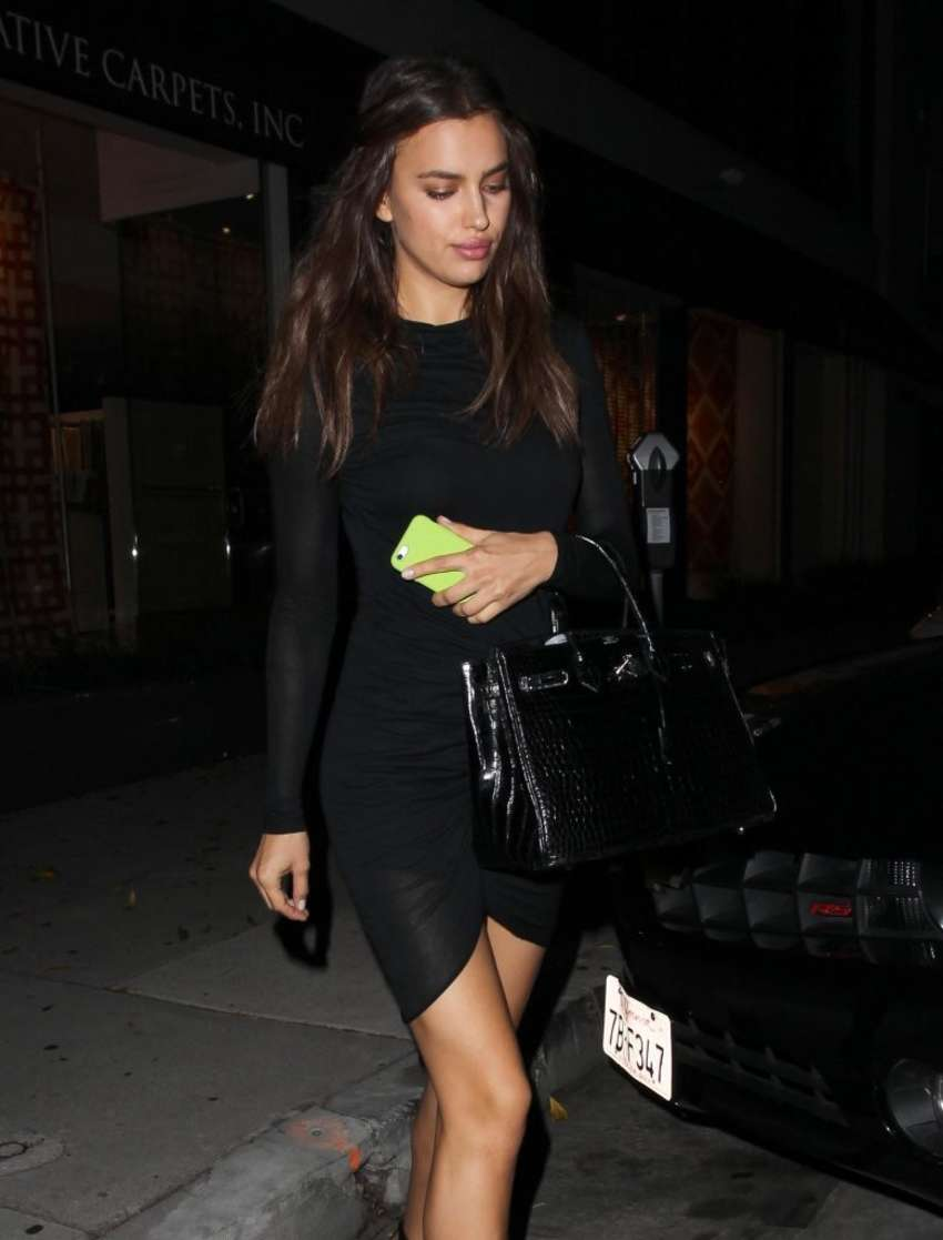 Irina Shayk 2014 : Irina Shayk in Black Mini Dress -04