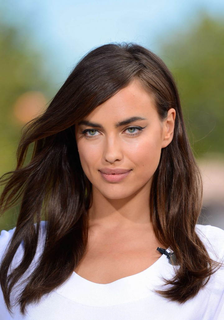 Irina Shayk in White Dress on Extra Set -12