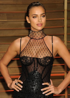 Irina Shayk: Oscar 2014 - Vanity Fair Party -09