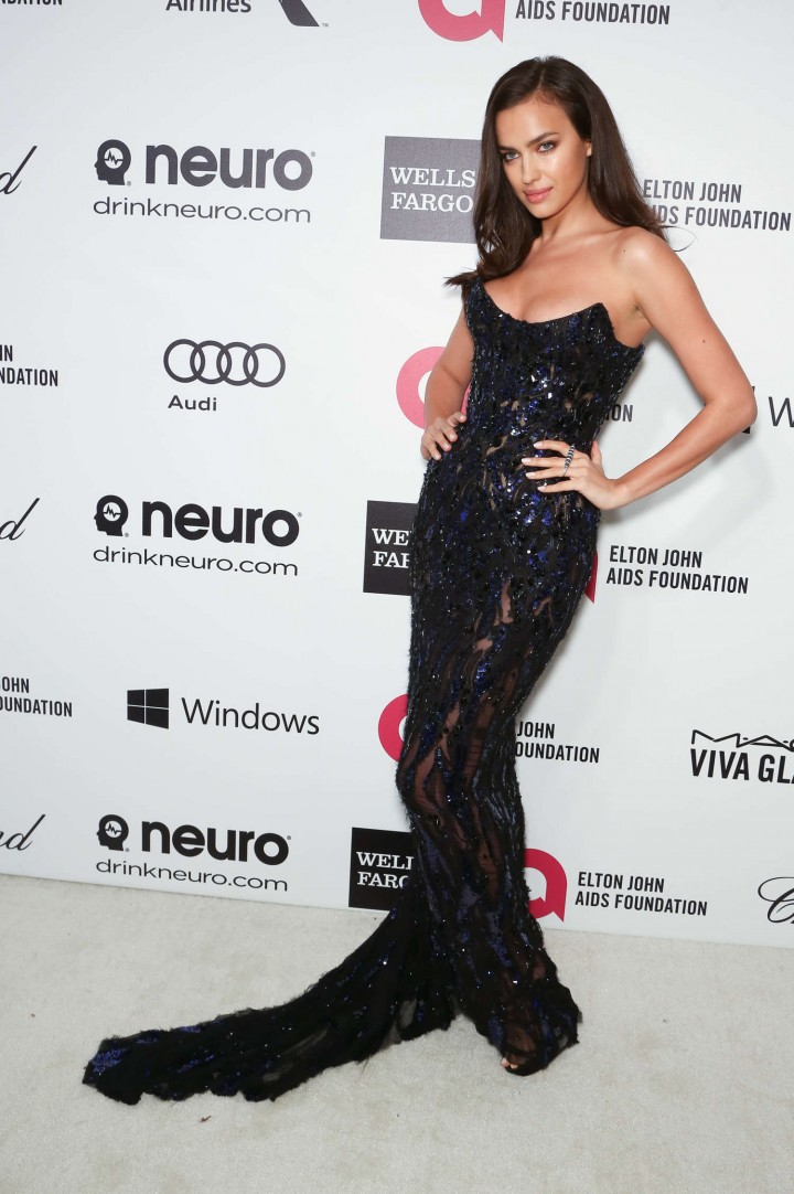 Irina Shayk: 2014 Elton John AIDS Foundation Academy Awards Party -03