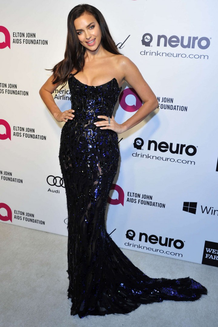 Irina Shayk: 2014 Elton John AIDS Foundation Academy Awards Party -10