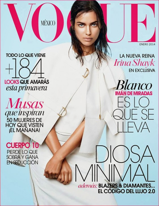 Irina Shayk: Vogue Mexico 2014 Cover -01