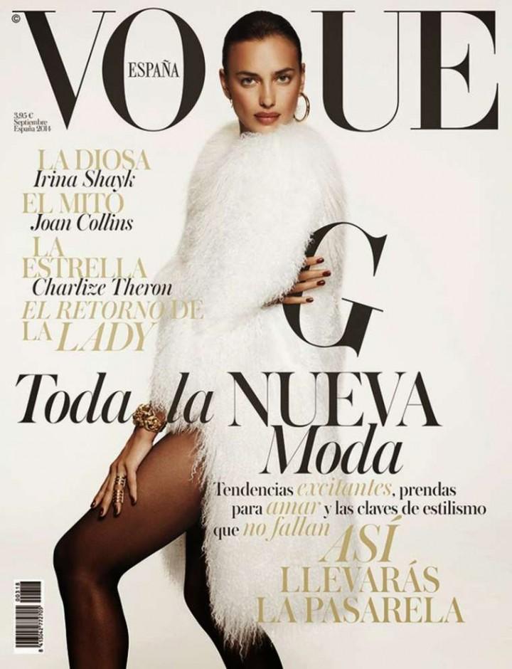 Irina Shayk - Vogue Spain Magazine Cover (September 2014)