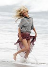 Isabel Lucas - On the set of Knight of Cups in Malibu