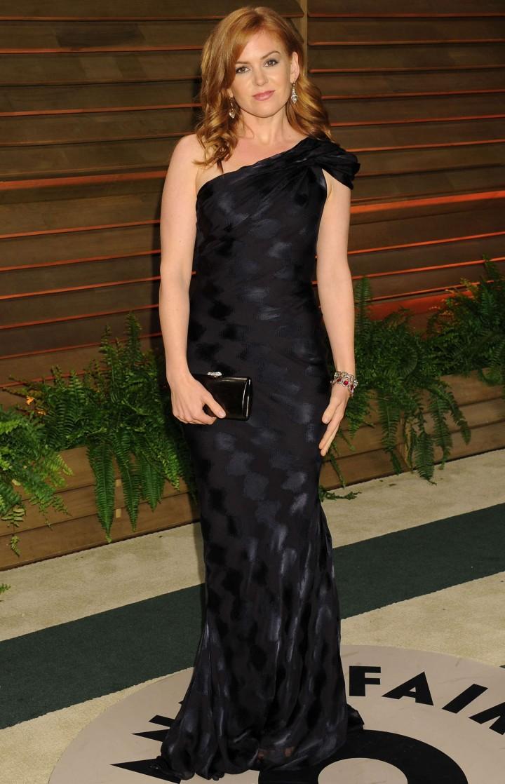Isla Fisher: Oscar 2014 - Vanity Fair Party -01