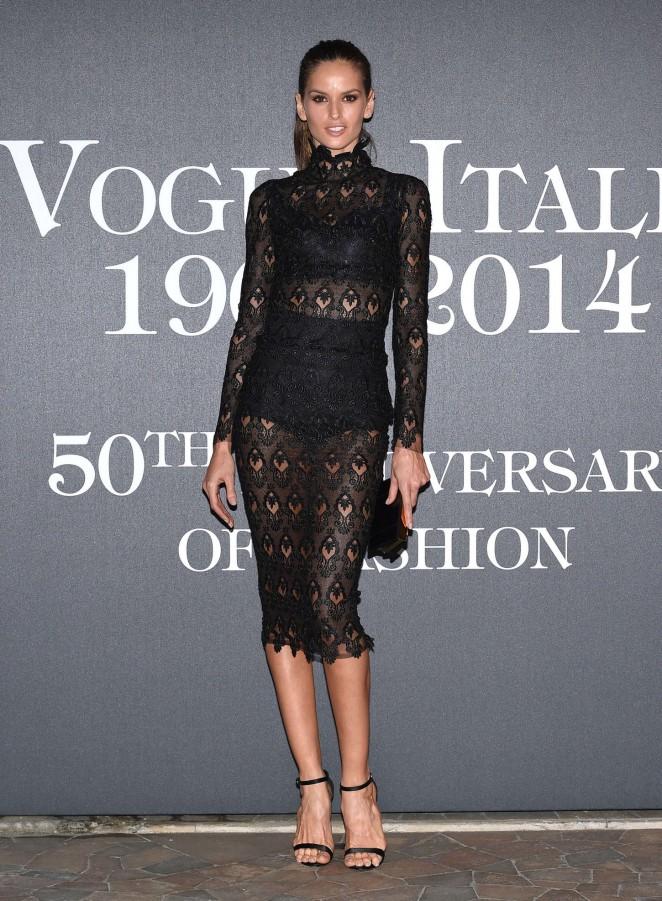 Izabel Goulart - Vogue Italia 50th Anniversary at Piazza Castello in Italy
