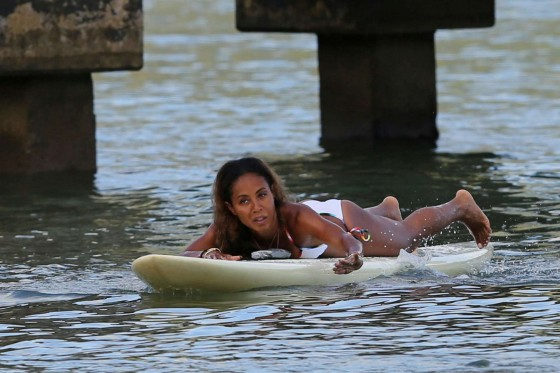 Jada Pinkett Smith in a white bikini in Hawaii -22