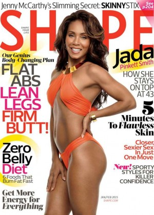 Jada Pinkett Smith - Shape Magazine Cover (January/February 2015)