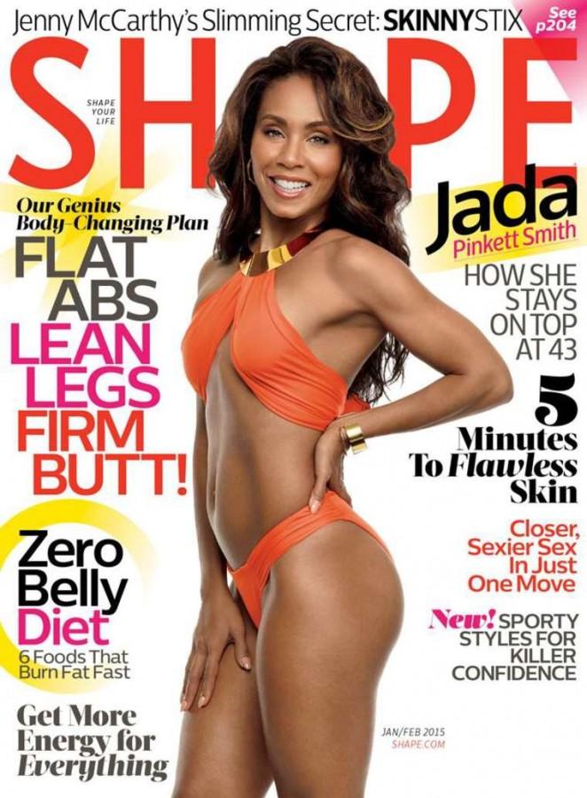Jada Pinkett Smith - Shape Magazine Cover (January/February 2015)