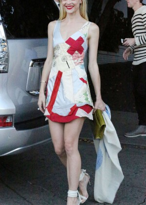 Jaime King in Mini Dress Leaving Chateau Marmont Hotel in West Hollywood