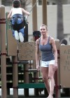 Jaime Pressly having fun in park-09