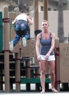 Jaime Pressly having fun in park-11