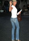 Jaime Pressly - in jeans at the Chateau Marmont in West Hollywood