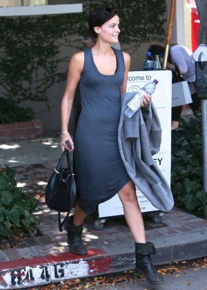 Jaimie Alexander in Tight Dress Leaving the gym in LA