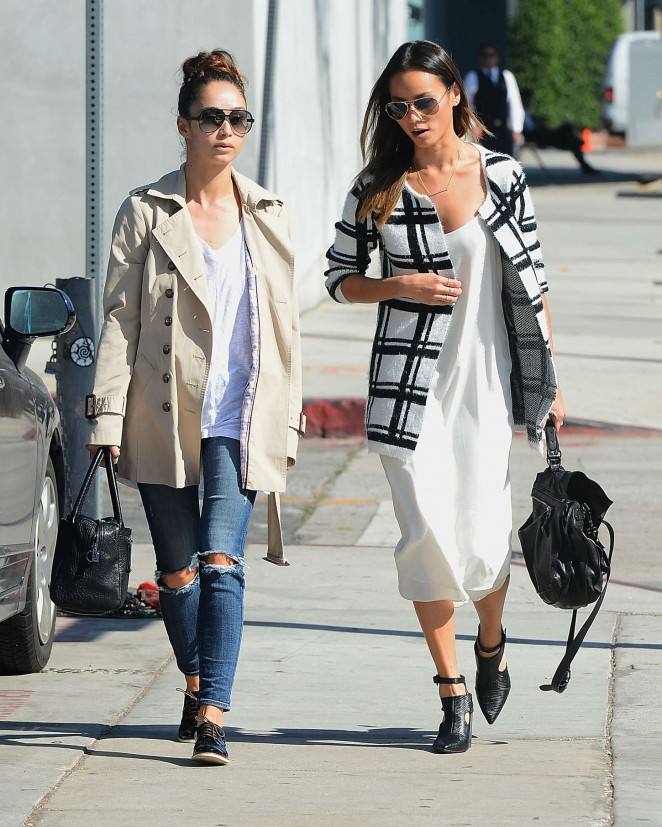 Jamie Chung with Cara Santana out in LA