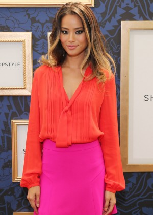 Jamie Chung - Marchesa Voyage for ShopStyle Collection Exclusive Preview in NYC