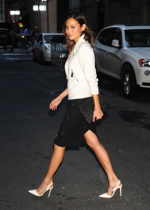 Jamie Chung Style - out and about in Manhattan