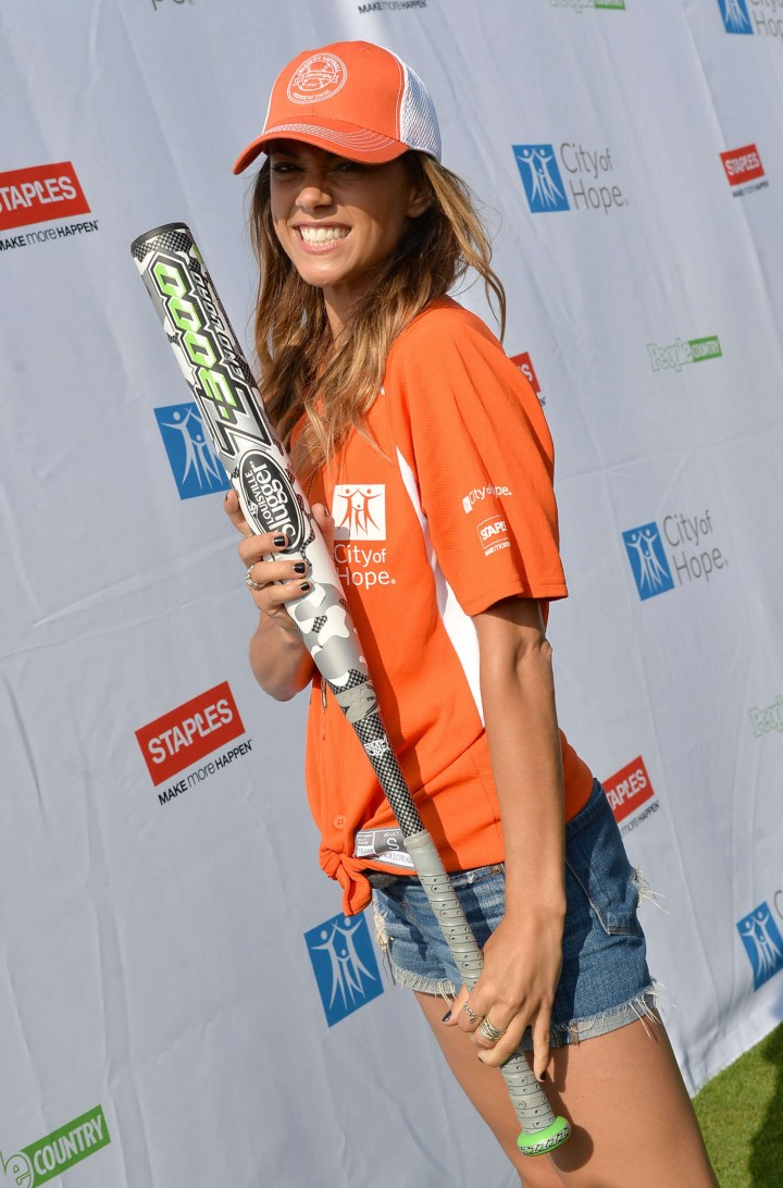 Jana Kramer 2014 Celebrity Softball Game -13