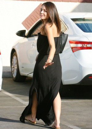 Janel Parrish in Long Dress at DWTS Rehearsal Studio in Hollywood